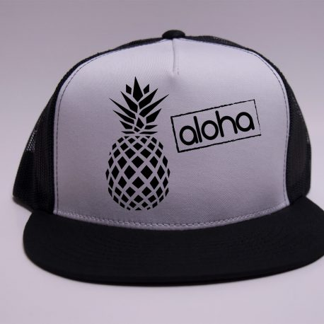 Aloha White on Black Black